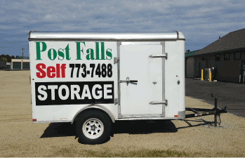 Post Falls Self Storage Office and Secure Fence